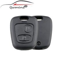 2 кнопки дистанционного ключа чехол для Citroen C1 C4 для peugeot 107 207 307 407 206 306 406 оригинальные ключи без лезвия