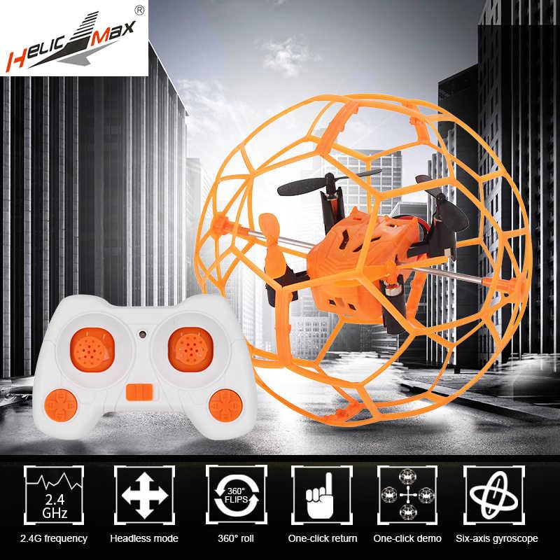 ba7db626ea2 HelicMax RC Quadcopter Headless Drone Toys Remote Control Drone 1340 2.4GHz  4CH RC Ball drone