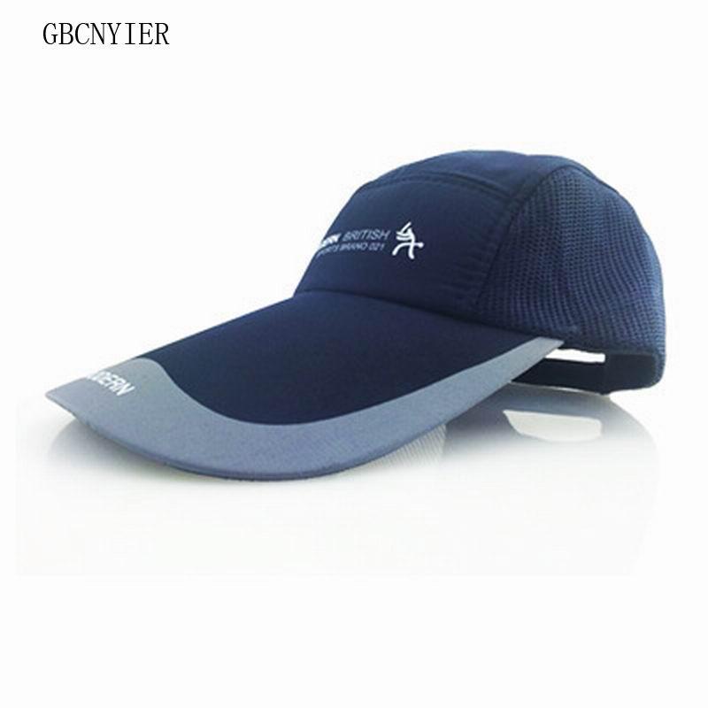GBCNYIER Hat Baseball-Cap Quick-Dry Mesh Sun-Hat Long-Brim Fish-Run Unisex Summer Shade
