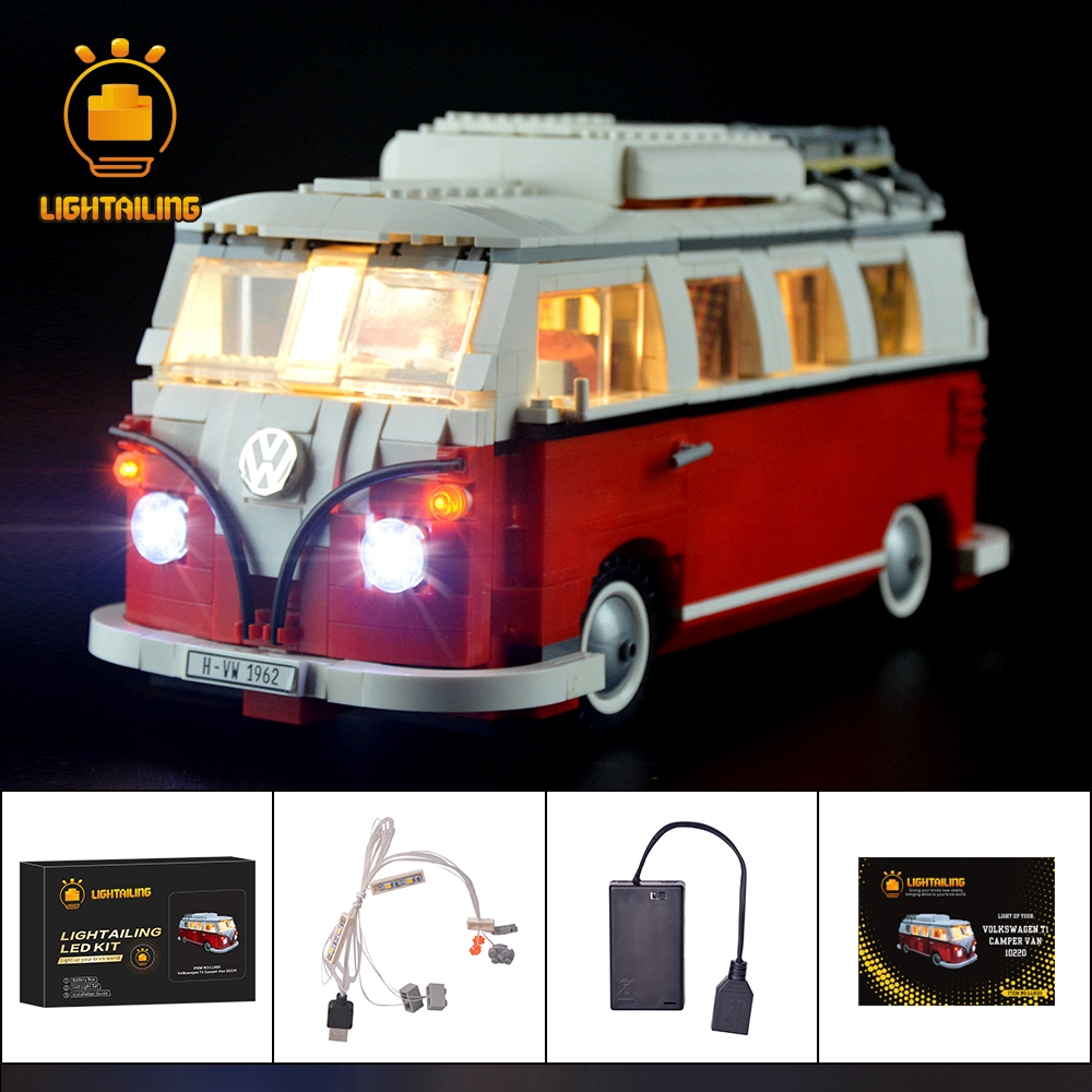 LIGHTAILING HA CONDOTTO Kit Luce Per T1 Camper Van Blocchi di Costruzione Giocattoli Luce Set Compatibile Con 10220 E 21001 Per I Bambini regalo