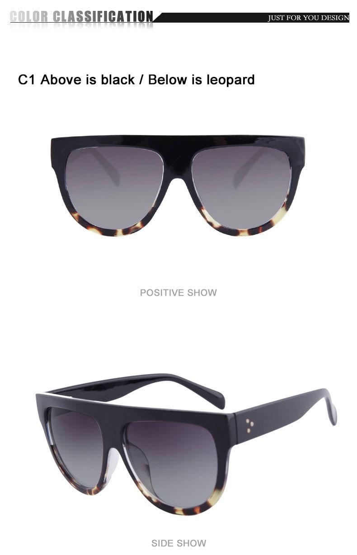986b8aea41 Winla Fashion Sunglasses Women Flat Top Style Brand Design Vintage Sun  Glasses Female Rivet Shades Big Frame Shades UV400 WL2133. XIANGQIN 1 A 790  C01 ...