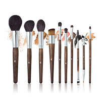 Professional Makeup Brushes Kit For Eyeshadow Kabuki Powder Applicator Wood Handle 10PCS Brush Highlighter Makeup Brushes