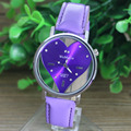 2016 Hot Sale PU Leather Transparent Dial Hollow Heart Analog Quartz Men Wrist Watches reloj hombre kol saati Good-looking JUL 9