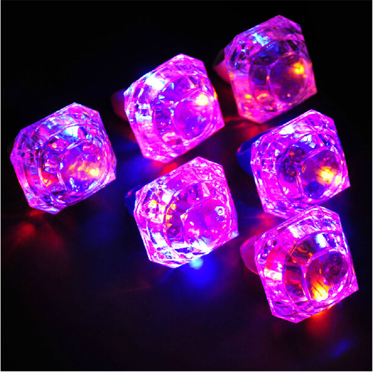 Wholesale 100pcs Lot Cystal Diamond Glowing Led Finger