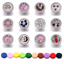 New Aromatherapy Snap Jewelry Locket Magnetic Stainless Steel Essential Oil Diffuser Button Fit 18MM Bracelet