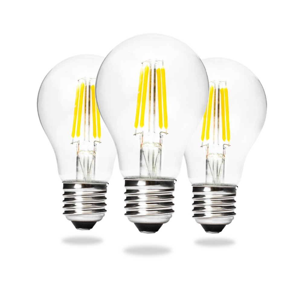 A60 E27 Edison Led Filament Light Bulb Lamps 4w 6w 8w 360 Degree 1w 10w 12w Driver Circuit Smps Making Easy Circuits Retro Ball Lamp Lighting Lampada Bombillas 110 220v