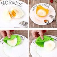 7 Pcs/Set Egg Tool with Separator Egg Boiler Cooker Transparent Silicone 4