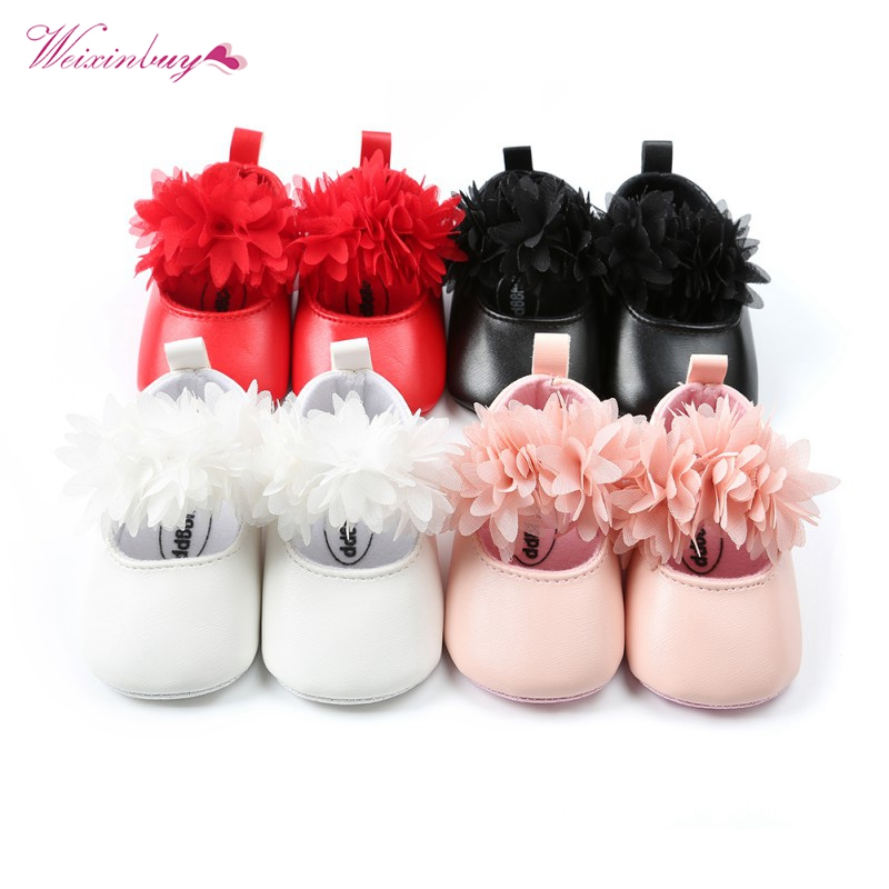 12 Style Baby Shoes Floral Style PU Leather Infant Baby Moccains Soft Sloe Toddler Girls Shoes Party Shoes 0-18M First Walkers