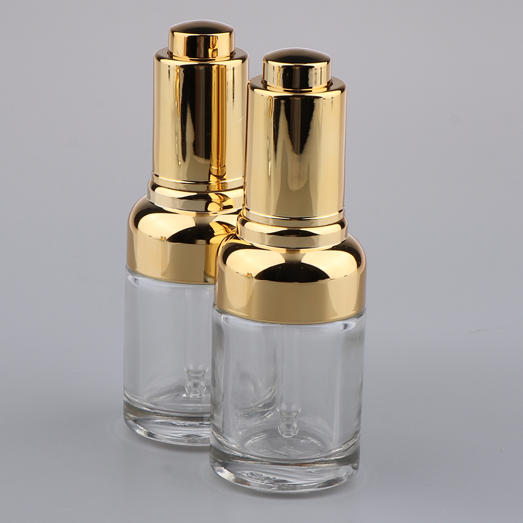 2Pcs Empty Aromatherapy Oils Dispenser Bottles, 30ml(1 Ounce) Clear Essential Oils Glass Vials, Come with Glass Eye Droppers