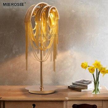 알루미늄 체인 테이블 램프 고정 장치 체인 알루미늄 레트로 책상 램프 침실 거실 lustre bedside lampe de chevet de chambre