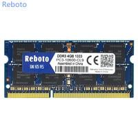Reboto DDR3 Memory RAM 4GB 1333MHz DDR DDR3 Memoria DRAM For Laptop Notebook 100 Original Free