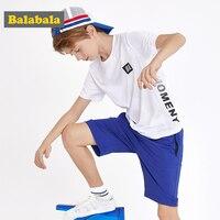 BalabalaChildren clothing boy set summer 2019 new quick drying short sleeve sports T shirt + shorts children's clothes tide