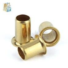 1000 pces m0.9 * 2.5 bronze cobre oco rebite 0.9mm marca dupla-face placa de circuito pcb vias pregos/latão cobre calos
