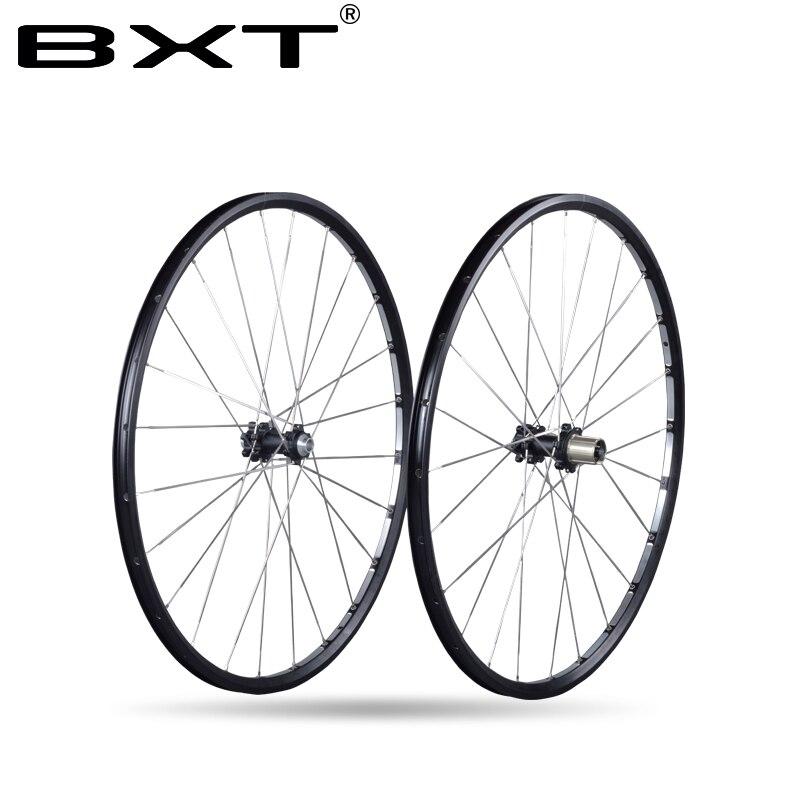 2018 Axle 142*12mm MTB Mountain Bike 27.5er 29er Six Holes Disc Brake bicycle Wheel CR 24H 11 Speed Support Alloy Rim Wheelset