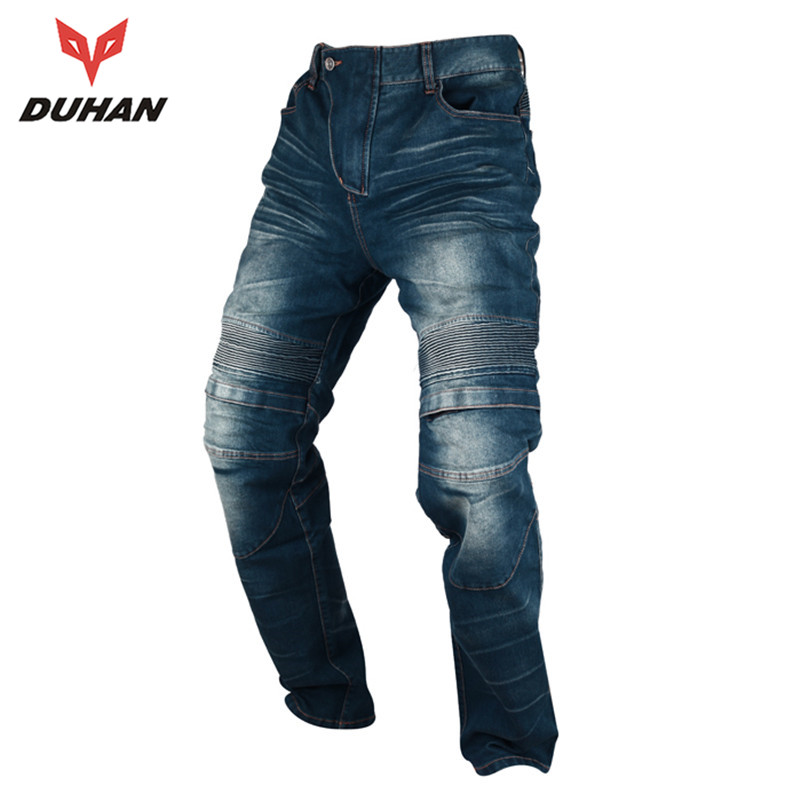 DUHAN Windproof Motorcycle Racing Jeans Casual Pants Men's Motorbike Motocross Off-Road Knee Protective Moto Jeans Trousers 2015 new duhan dk 018 moto pants motorcycle jeans off road motorcycle riding pant drop resistance external protective gear