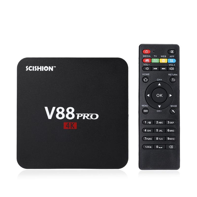 SCISHION S905X V88 PRO TV Box Amlogic Quad Core Android 6.0 4 K H.265 1 GB DDR3