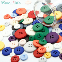 10pcs Shirt Coat Color Matte DIY Button 4 Hole Resin Crafts Clothing Sewing Accessories