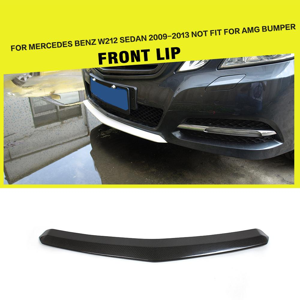 Carbon Fiber Front Bumper Center Lips Car Lip Spoiler For Benz E Class W212 E200 E260 E300 2009-2012 цена