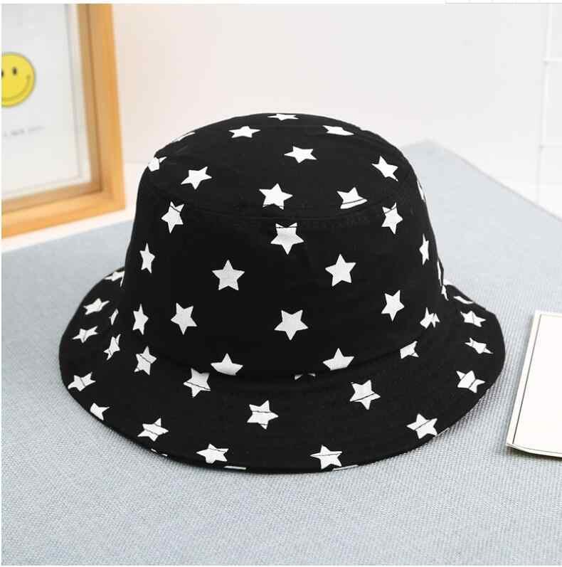 84c94de3 2019 New children star Bucket Hats summer sun hat for Kids outdoor Fishing  Hat bob Panama