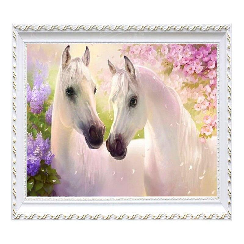 Full diamond embroidery Horse animals 5d diy rhinestones mosaic picture home decoration diamond painting cross stitch craft