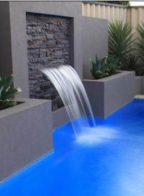Waterproof 600mm Length Abs Acrylic Water Fall Strip Lip 25mm Waterfall Spa Pool Water Jet No