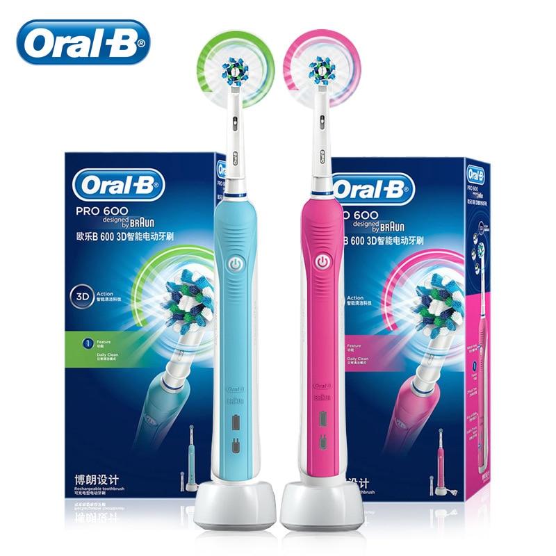 Oral B электрическая Зубная щётка Перезаряжаемые D16 Pro 600 зубная щетка электрическая Oral-B Сменная головка электрической зубной щетки для взросл...