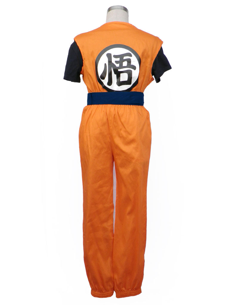 Dragon Ball Goku King Kai Symbol Cosplay Costume Full Set Free Pp