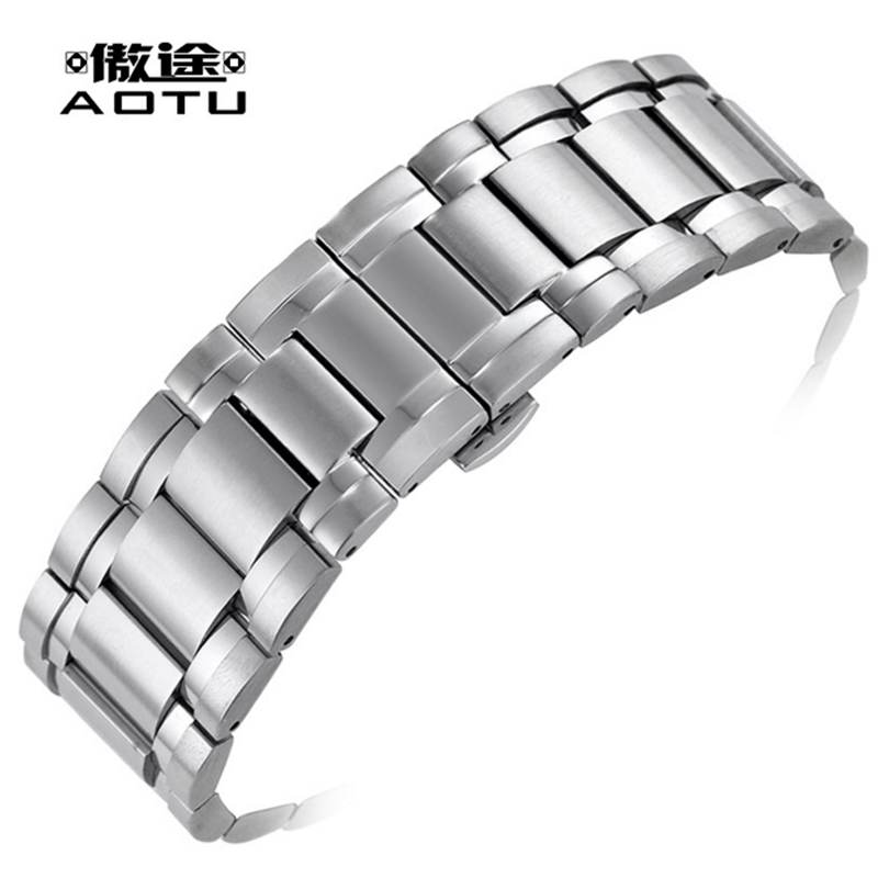 Stainless Steel Watchbands For Tissot 1853 T061.717 Men Watch Straps 24 X 16mm Top Quality Watch Band Curved Male Bracelet Belt men s watch strap for tissot locke visodate t41 stainless steel watches band male bracelet belt watchbands correas para reloj