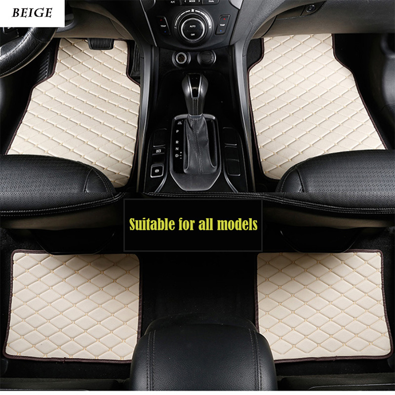 Universal leather car floor mats for <font><b>volvo</b></font> xc90 s60 v40 s40 xc60 c30 s80 v50 <font><b>xc70</b></font> waterproof car accessories styling image
