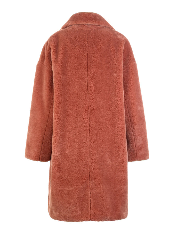 Vero Moda lapel drop shoulder long teddy bear winter coat jacket | 318309503 28