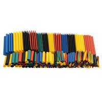 Set de 164 Uds. De poliolefina, surtido de encogimiento por calor, Cable de tubo retráctil, conjunto de tubos de aislamiento