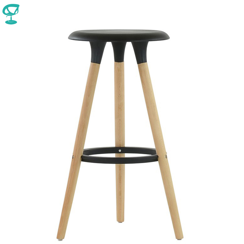 94932 Barneo N-19 Plastic Wood Kitchen Breakfast Interior Stool Bar Chair Kitchen Furniture Black Free Shipping In Russia
