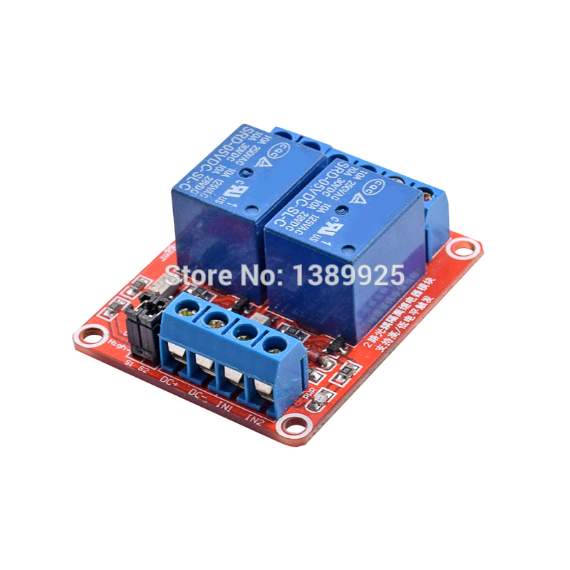 5V Relay Module With Optical Coupling Isolation Support High And Low Level Trigger Two-way Relay Module 2 - Channel