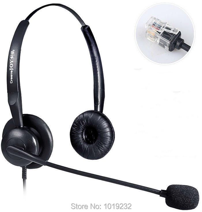volume and mute switch headset with rj9 plug headset for. Black Bedroom Furniture Sets. Home Design Ideas