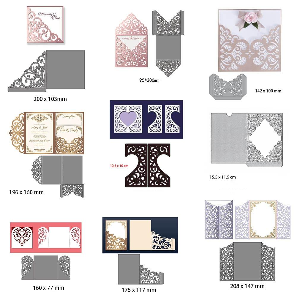 Wedding Invitation Dies Metal Cutting Dies New 2019 Scrapbooking Valentine's Day Decoration Craft Dies Cut For Card Making