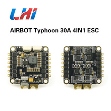 The ESC supports BLHEL andI MUILTSHOT RC Typhoon 30A 4IN1 ESC RaceVerison V2 runs BLHELI_S fimrware for quadcopter drone airbot typhoon 4in1 s esc 4x30a and omnibus aio f7 v2 flight controller board for rc fpv racing cross drone quadcopter
