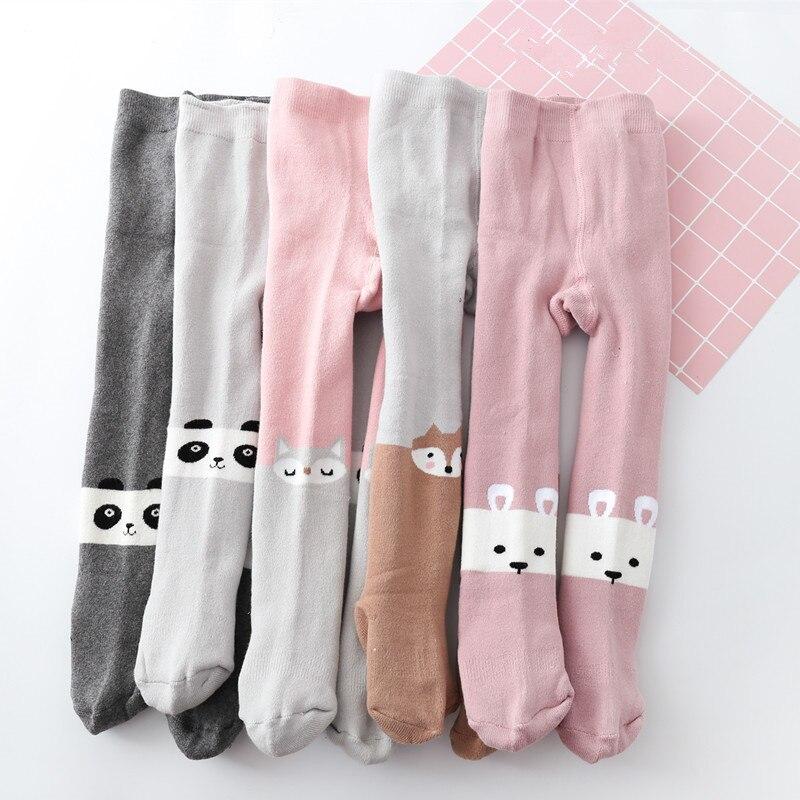 Baby Mädchen Winter Baumwolle Bär Strumpfhosen Kinder Terry Verdicken Strumpfhosen Nette Tier Muster Infant Baumwolle Gestrickte Warme Kinder Mode äSthetisches Aussehen