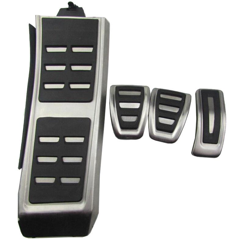 DSG Sport Pedals FIT For Audi A4 B8 A6 A7 A8 S4 RS4,A5 S5 RS5 8T,Q5 SQ5 8R Fuel Brake Footrest Pedal Cover Auto Accessories