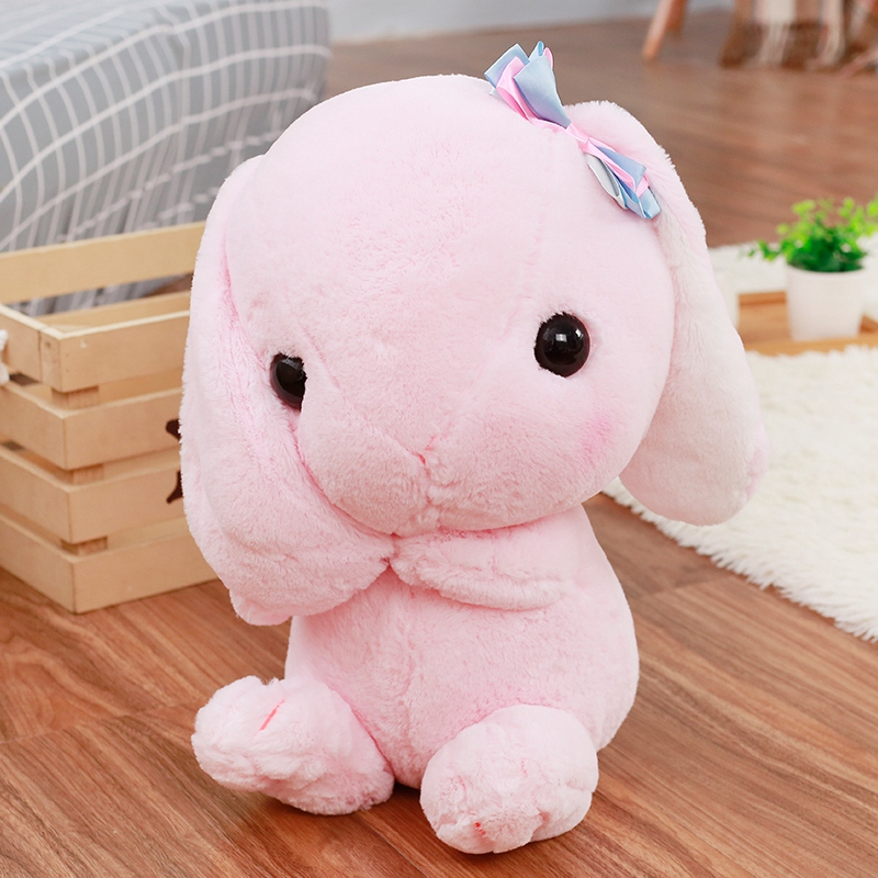 Nooer kawaii Rabbit Plush Toy For Children Bunny Rabbit Stuffed Animals Doll Soft Kids Toy Children Kids Girls Birthday Gift 90cm large size soft hugging rabbit plush toy stuffed animal bunny rabbit pillow plush soft placating toys for children
