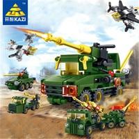 Assembling blocks Kaichi 84035 field forces 8 mixed toys for children intense emotion tank DIY Model Kids Educational Toys