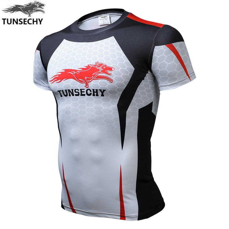 TUNSECHY Brand Original Design Brand Men Riding Jacket Short Sleeve T-shirt Men's Fashion Boutique T-shirt Size Xs-4xl
