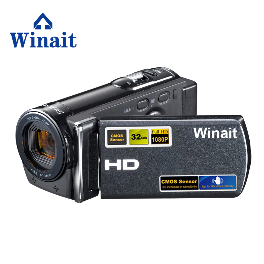 Freeshipping 3.0 Inch 12MP 720P HD Professional Digital Video Camera With 16X Digital Zoom Video Camera Camera Fotografica