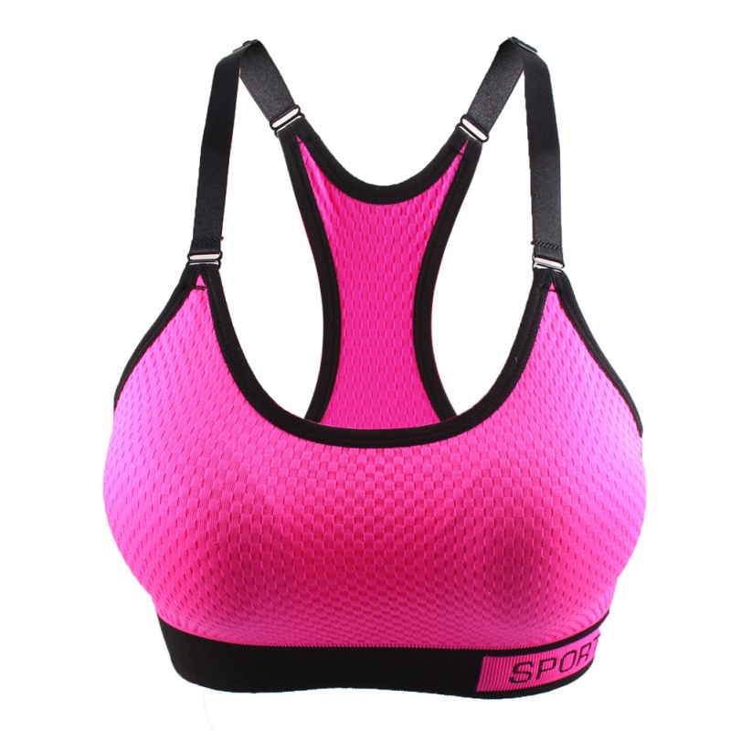 e9a34af0c9 Women Sports Bra Wireless Adjustable Straps Detachable Pads Top Stretchy  Fitness Crop Top deportivo mujer-in Sports Bras from Sports   Entertainment  on ...
