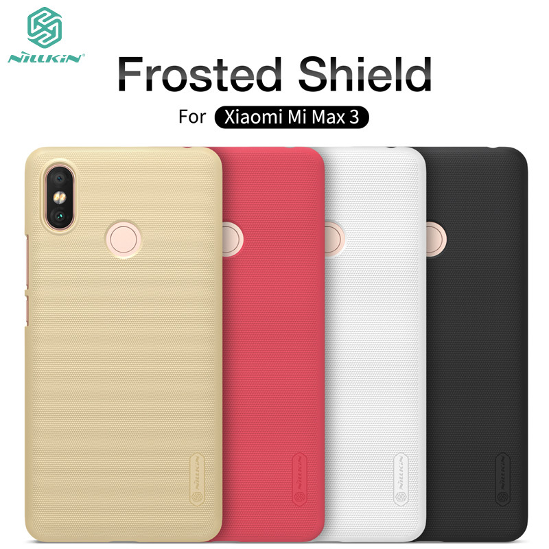 Xiaomi Mi Max 3 Case Original NILLKIN Super Frosted Shield Phone Cases For Xiaomi Max 3 Hard PC Back Cover Capa with Gift