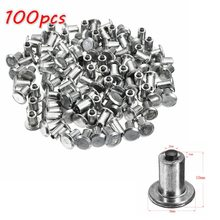 100pcs Spikes for Tires Universal Car Wheel Tyre Snow Spikes Studs Tires Anti-Slip Screw Stud Trim for Auto Car Truck Motorcle