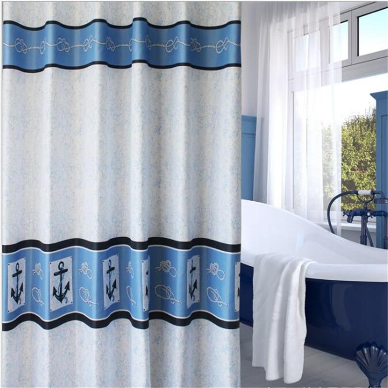 Modern simple waterproof and mildew cartoon shower curtains high-grade pirate captain bathroom curtain home hotel dedicated