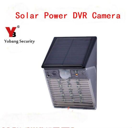 YobangSecurty étanche 1080 P WIFI sans fil extérieur DVR caméra de sécurité lumière LED lampe PIR détection de mouvement enregistrement vidéo SD