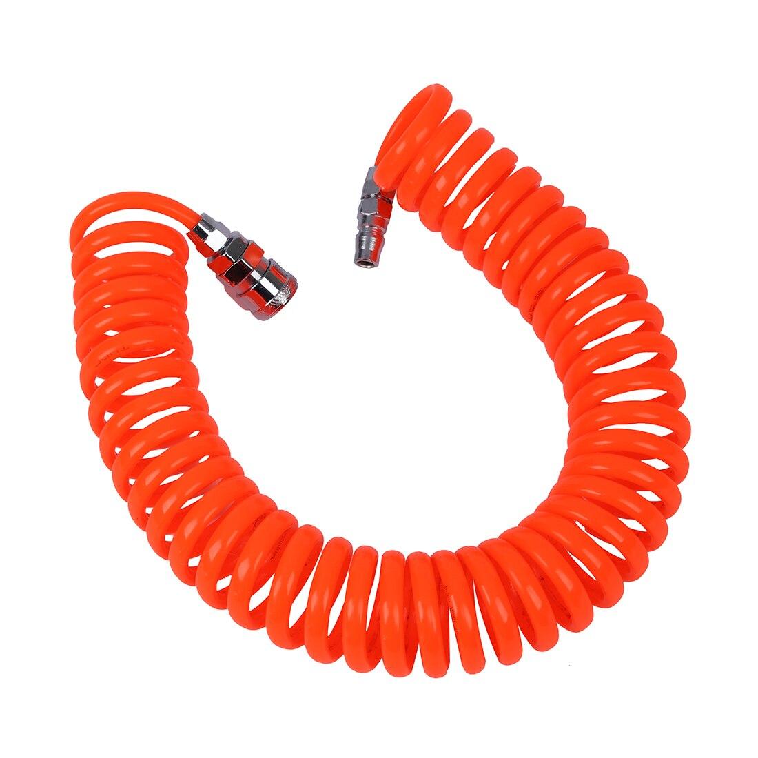 CNIM Chaude 6 M 19.7Ft 8mm x 5mm Flexible PU Recoil Tuyau Tube pour Compresseur D'air Outil