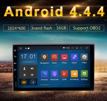 "universal Quad core Android 1024*600 car GPS 2DIN 7inch radio 1.6GHZ CPU 1 GB RAM 16GB "" Capacitive "" Touch Screen free map"