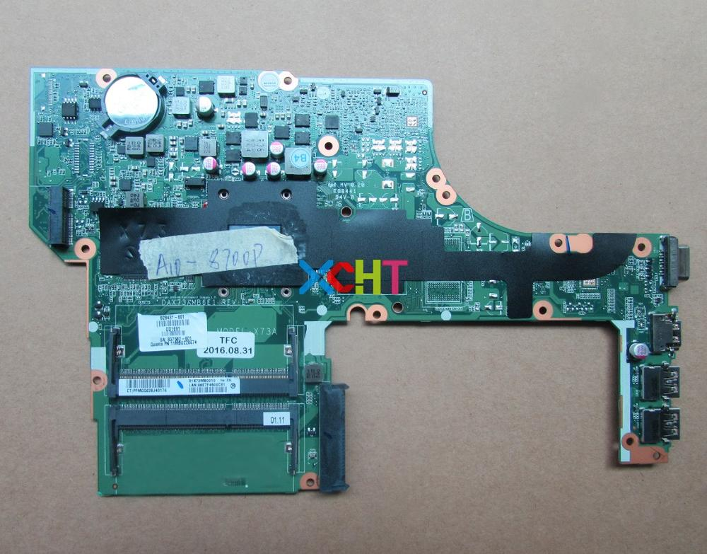XCHT For HP Probook 455 G3 Series 828431 601 828431 001 DAX73AMB6E1 A10 8700P UMA Laptop Motherboard Tested & Working Perfect